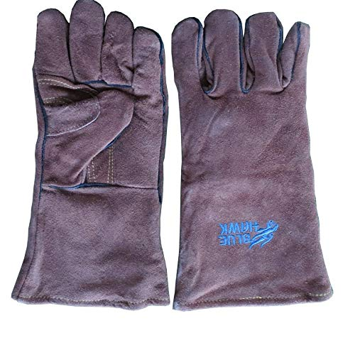 Blue Hawk Brown Welding Gloves