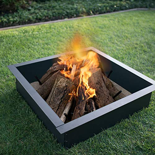 Blue Sky Outdoor Living Steel Square Shaped Fire Pit Ring Now $37.86 (Was $80)