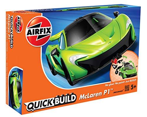 Image of Airfix Quickbuild McLaren P1 Green Snap Together Plastic Model Kit J6021