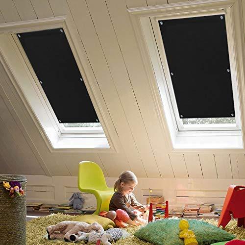 KINLO 96 x 93cm Techo Solar Persiana Enrollable Aislamiento Térmico Protector Solar Apagón para Claraboya Ventanilla del Coche Protección UV con Ventosa sin Perforación o Pegamento Color Negro