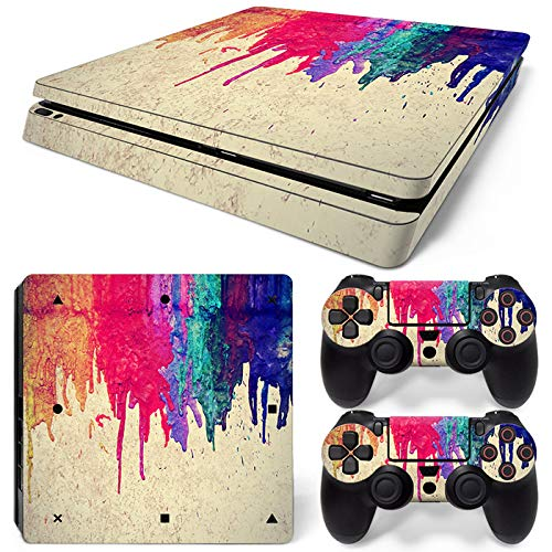 Mcbazel Pattern Series Vinyl Skin Sticker For PS4 Slim Controller & Console Protect Cover Decal Skin (Paint)