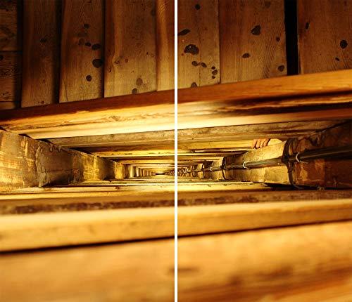 DAMU |ceranfeldabdeckung 2Piezas 2x 30x 52cm Cubiertas Vintage eléctrico Horno Cocina de inducción para Libro de protección contra Salpicaduras Placa de Cristal Tabla de Cortar Marrón