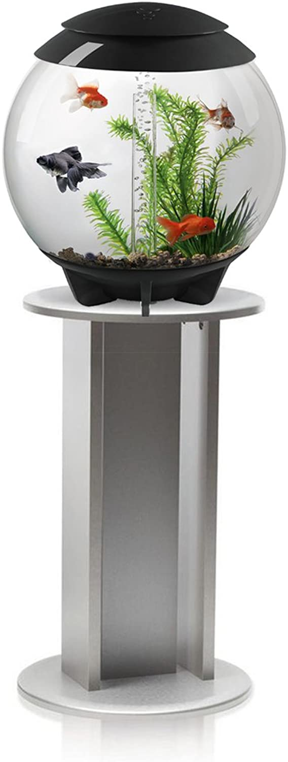 BiOrb Halo 30L Aquarium in Grey with MCR LED Lighting and Silver Stand