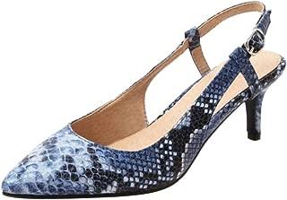 ELEEMEE Women Fashion Mid Heel Summer Pumps Shoes