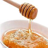 Schneespitze 50 Pcs Honey Spoon Haushalt Holz Tragbare Honiglöffel Honig Dipper Honig Dipper Löffel Holz für Honig Jar 15.5cm - 5