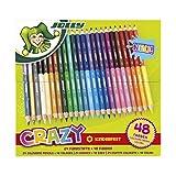 Jolly Superstick Crazy Farbstifte 24 Stifte mit 48 Farben