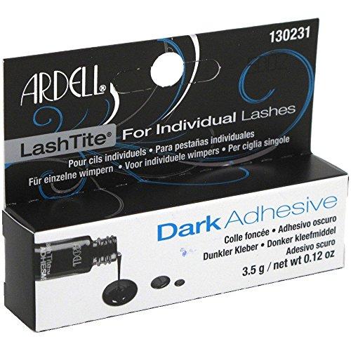 ARDELL Lashtite Dark Adhesive, dunkler und permanenter Wimpernkleber für Individuals, Einzelwimpern, 3,5g
