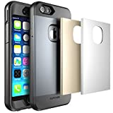 SUPCASE Water Resist Full-body Protection Series Heavy Duty Case for Apple iPhone 6, with Built-in Screen Protector and 3 Interchangeable Covers (Space Gray/Silver/Gold)