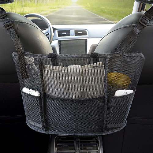 Vstarner Auto Netztasche Handtaschenhalter, Sitz Rücken Netztasche, Handtaschenhalter für Auto, Fahrer Lagerung Netztasche, Handtaschenhalter Befestigung an Kopfstütze