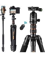 Treppiede Fotocamera Professionale, Estensibile fino a 178 cm, Telecomando Bluetooth Incluso, Trasformabile in Monopiede, Asse Centrale Invertibile per Fotografia Macro, Lega di Alluminio - MLT05