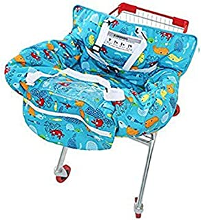 crocnfrog 2 in 1 cotton shopping cart cover