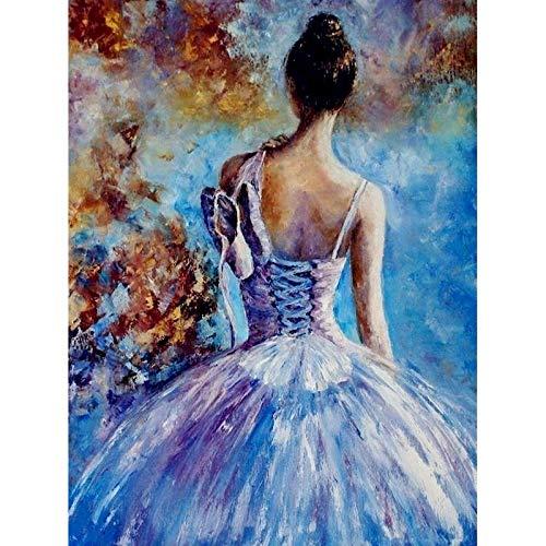 Diy Ballet pintura por números lienzo figura pintura al óleo por números pintado a mano Diy regalo decoración de la pared del hogar A3 60x75cm