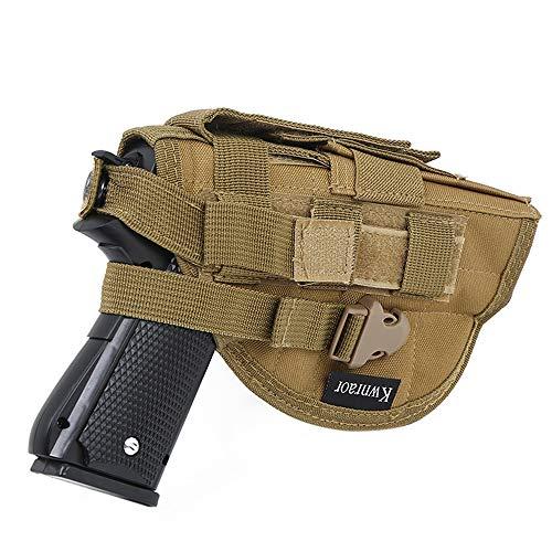 KWNRAOR Taktische Molle Pistolenholster, Universal Gürtelholster Pistolen Holster für Rechtsschützen 1911 45 92 96 Glock Pistole (Khaki)