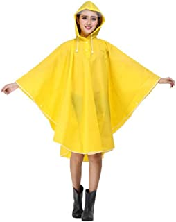 Yxsd Raincoat Women's Waterproof Jacket Raincoat Hooded Poncho Suit Motorcycle Raincoat Set Protective Equipment Work Outdoor Activities (Color : Yellow)