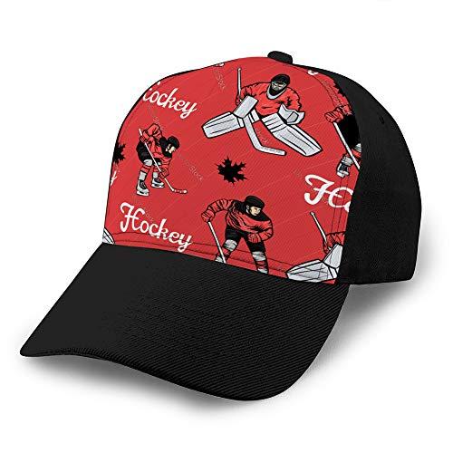 hyg03j4 1 Nueva Gorra de béisbol de algodón de Moda Sombreros de Camionero Ajustables Jugadores de Hockey canadienses de Patrones sin Fisuras y Gorra Simple