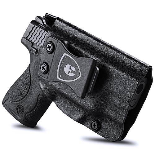 Compatible M&P Shield 9mm Holster, IWB Kydex Holster Fit for S&W M&P Shield M2.0 9mm / .40 with Integrated CT Laser Pistol, Inside Waistband Concealed Carry Holster, Adj. Cant & Retention, Right