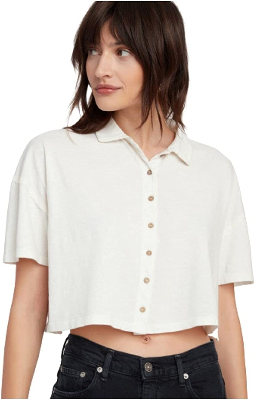 Free People Weekend Rush Top White L