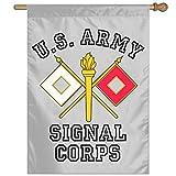 Eriesy Flag US Army Signal Corps Logo Banderas Garden Banderas Family Banderas Party Banderas 100% Polyester Fiber Vertical Indoor Banderas