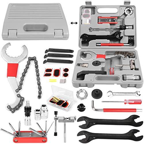 Odoland Kit de Herramientas de Reparación de Bicicletas de 25 piezas con Herramientas Multifunción para Bicicletas y Llave, Juego de Herramientas de Mantenimiento con Caja