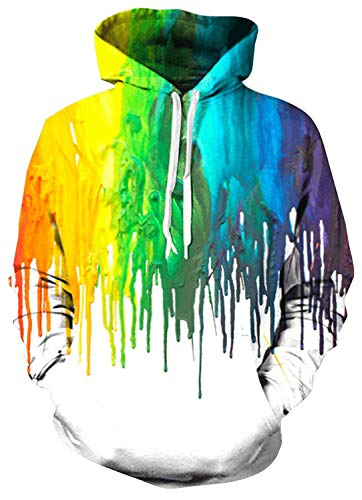 Belovecol Herren Damen Hoodies 3D Kapuzenpullover Bunte Funny Pullover Hooded Sweatshirt Kapuzenpulli