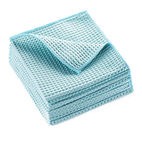 Waffle Weave Towel, Microfiber Waffle Weave Drying Towel Cloth for Car Detailing, Home Kitchen, All-Purpose Streakless Microfiber Cleaning Cloth, 12 x 12 Inches, 8 Pack