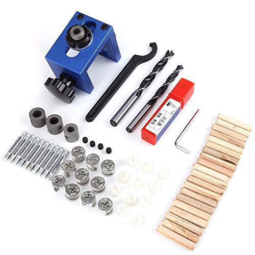 tellaLuna Woodworking Drilling Locator Guide Wood Dowel Hole Drilling Guide Jig Drill Bit Kit Woodworking Carpentry Positioner Tool