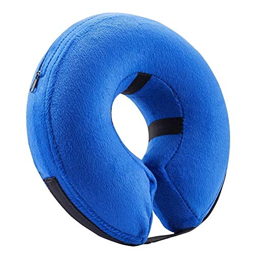 Om Comfy Pet Cone for Recovery - Dog Pillow Cone Soft Pet Cones for Dogs - Good Dog Cone Collar Soft Puppy Neck Donut - Inflatable Dog Cone Soft for Pets - High Grade Cone for Dogs After Surgery