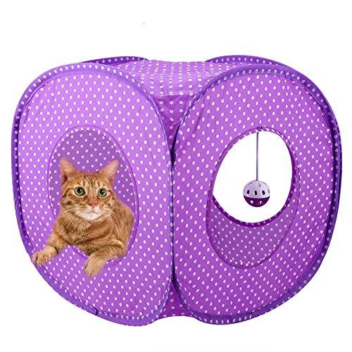 HEEPDD Túnel para Gatos, Pop-up Plegable Cubo de Gato Tienda de Punto...