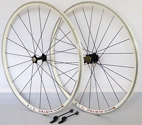 28 Zoll Fahrrad Laufradsatz Rennrad Airtec 4 Hohlkammerfelge weiß JoyTech schwarz NIRO schwarz 20/24 Loch