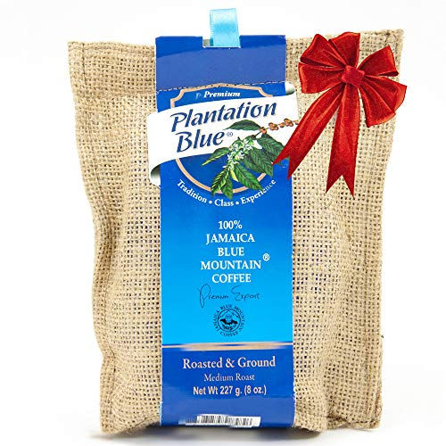 Jamaican Blue Mountain Coffee Ground, 100% Pure, Perfectly Medium Roasted and Ground - 8 Ounces