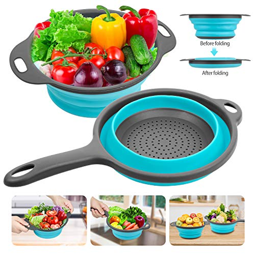 ad: ONLY $6.99  Silicone Collapsible Colanders and Strainers (2 Piece Set)  …