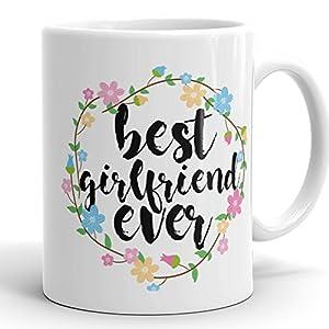 Best Girlfriend Ever Mug - 11 oz Ceramic Coffee Cup Romantic Gift For Gf from boyrfiend