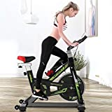 Stationary Bike with Belt Drive Exercise Bikes Indoor Cycling Bike Fully Adjustable Comfortable Seat...