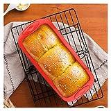 Depruies Moldes Silicona Reposteria Forma de pan de pan de silicona y forma de caja - Conjunto de 2 - Molde de hornear de silicona anti-dirección para pasteles y pan 10x4.9x2.6 pulgadas (Talla : D)