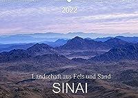 Sinai - Landschaft aus Fels und SandCH-Version (Wandkalender 2022 DIN A2 quer): Der Sinai, Fels- und Sandwueste mit abwechslungsreicher atemberaubender Landschaft. (Monatskalender, 14 Seiten )