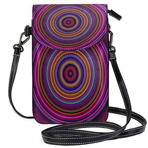 XCNGG Circle Round Rings Colorful Cell Phone Purse Wallet for Women Girl Small Crossbody Purse Bags