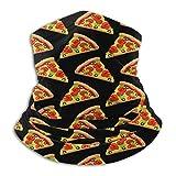 TTYIY Unisex Microfibra Cuello Calentador Mi Vegano y Pizza Pasamontañas Headwear Bufanda para Polvo Viento Protección Solar