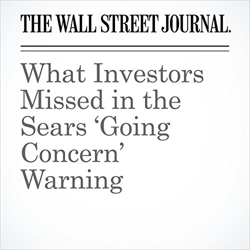 What Investors Missed in the Sears 'Going Concern' Warning copertina