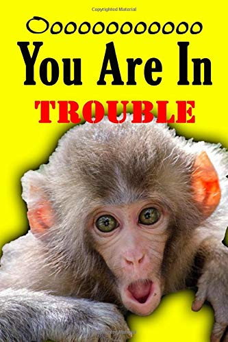 Ooooooooooooooo You Are In Trouble: Notebook Funny Monkey Gorilla Ape Journal to Take Notes Ideal Gift for Kids and Adults size 6