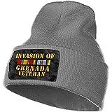Grenada Invasion Veteran Unisex Adulto Gorro de Punto Gorro Gorro Gorro Cráneo Gorro de Punto Gorros cálidos de Invierno