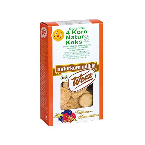 Werz 4-Korn Vollkorn Natur Keks 150g