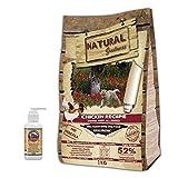 NATURAL GREATNESS - Pienso Natural Sin Cereales de Pollo para Perros Cachorros y Razas Toy HIPOALERGÉNICO Saco 2 kg + Aceite Salmón Grizzly 125 ml   ANIMALUJOS