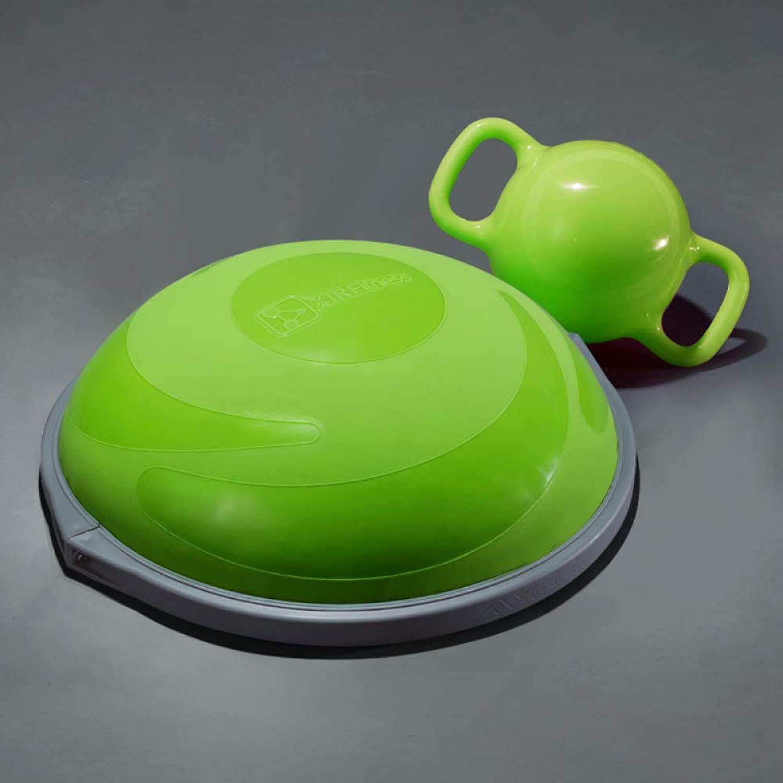 ピラティス半球コアワークアウトエアドーム、抵抗バンドおよび家庭用およびジム用のエクササイズボール用ポンプ,緑