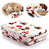 Soft Fluffy Fleece Pet Dog Throw Blanket,30' x 41' Dog Cat Sleep Mat Bed Cover for Puppies, Cats and Kittens