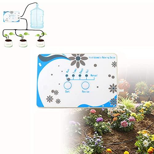 CSYHJRS Sistema de riego automático, WiFi Smart Electronic Outdoor Plants Auto riego por Goteo, para invernaderos, jardinería, césped