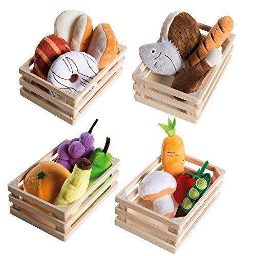 roba Spielzeugnahrungsmittel, 4 Körbchen mit Zubehör für Kaufladen Set 20-teilig und Kinderküche, mehrfarbig