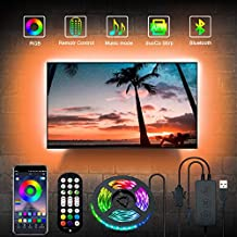 ZOKON TV LED Backlights , 9.8FT Lights for TV with Remote & App Control, Music Sync, RGB Color Changing , 90 Degree Bend,for 40-60 inch TV, Computer, Bedroom, Suitable for Android iOS,USB Powered