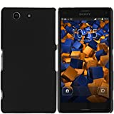 mumbi Hülle kompatibel mit Sony Xperia Z3 Compact Handy Hard Case Handyhülle, schwarz