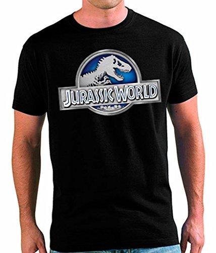 Mx Games Camiseta Jurassic World Unisex Adultos Logo Classic (Todas Las Tallas)(L)