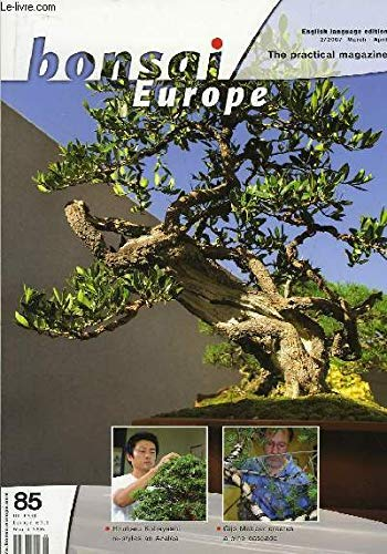 Bonsai Europe, the practical magazine n°85 : Hiruharu Kobayyashi re-styles an Azalea. Gijs Meboer creates a pine cascade.